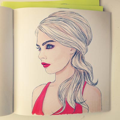 Coloring Book For Fashion : See the cara delevingne coloring book colour me good