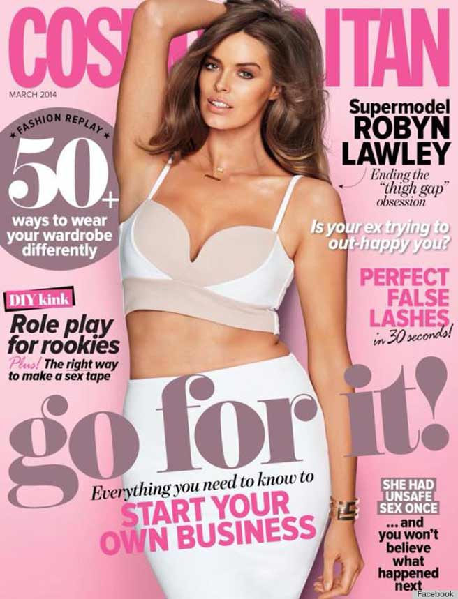 Elle Plus Size Model Plus-size Model Robyn Lawley