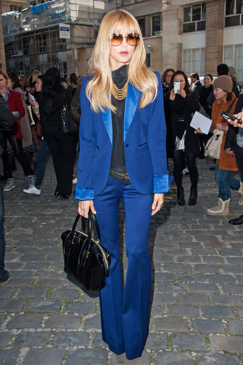 Rachel Zoe Street Style Rachel Zoe Blue Hutton Pantsuit