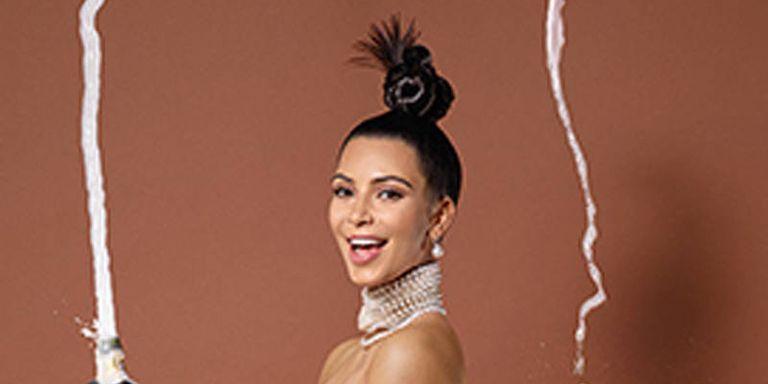Kim kardashian paper magazine cover kim kardashian belfie on