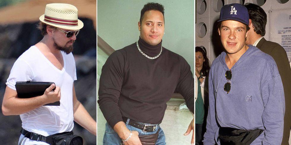 Celebrities Wearing Manny Packs-Male Stars in Fanny Packs