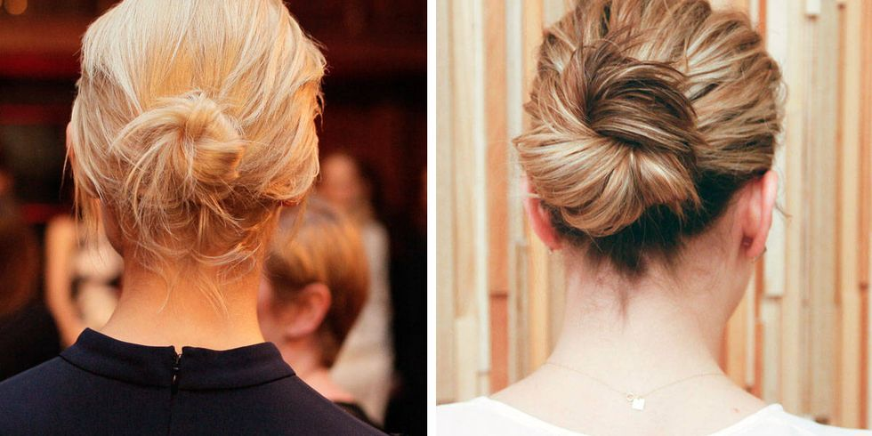 Outstanding How To Make A Hair Bun Best Bun Hairstyles By Off Duty Models Short Hairstyles Gunalazisus