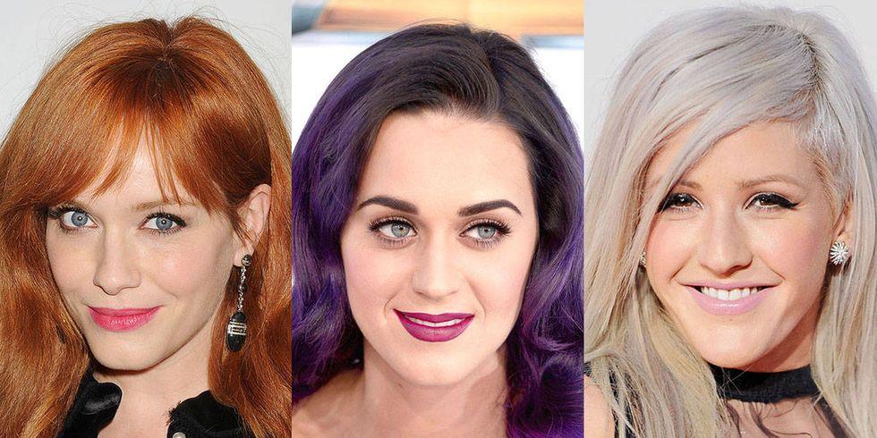 ilginç saç renkli ünlüler