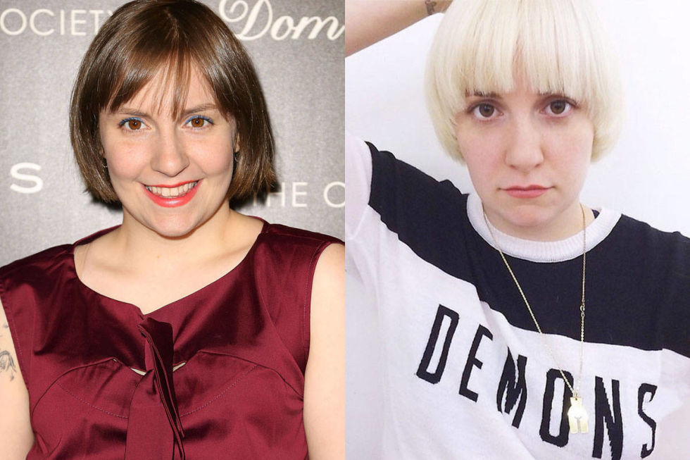 When Lena Dunham posted an Instagram photo debuting a bleached bowl cut, half of the Internet didn't believe it was true. But after she was spotted out and about with the new look, we were shocked, then happy, that it wasn't a hoax.