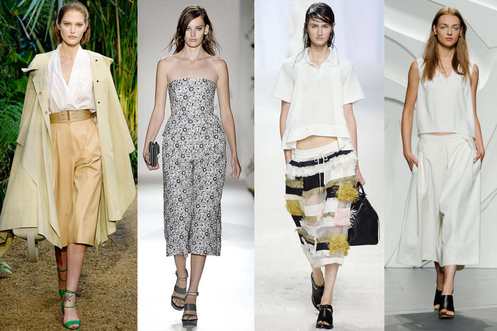 Culottes are officially the new must-have pants for spring. Never mind that I had them in a light denim form in the third grade. They were awesome then and are even better now (especially now that crop tops are appropriate). Check out our picks from basic to bold and get on board with cool culottes.