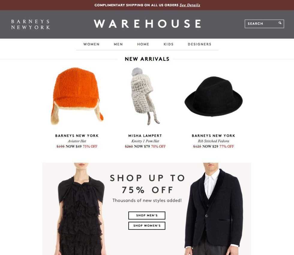 Designer Fashion Warehouse Locations Barneys Warehouse It s