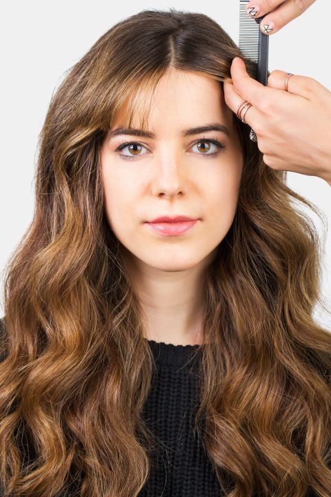 ways to style hair with bangs how to style bangs 5 hairstyles to keep your bangs out 7622