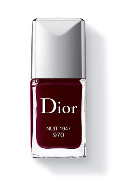 """""""When I was in high school in the (late) '90s vamp was the coolest color you could put on your nails. I still believe that to be true today. Even during the summer. Lucky for me the '90s are cool again and this now a seasonably appropriate color as well. Nuit by Dior is the perfect vamp color"""" -Leah Chernikoff, editorial director"""