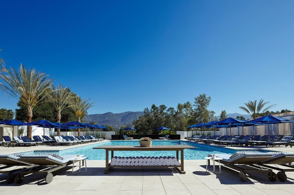 """It's time to head to the Golden State. Get your """"om"""" on at the Ojai Valley Inn and Spa in Ojai, California, and indulge in a week of lounging by the pool while surrounded by the stunning Topatopa mountains. (We recommend springing for a private cabana at the serene Indigo pool and bar.) When you need a break from all that fresh air, schedule an appointment for the hotel's exclusive Kuyam mud treatment. This signature treatment takes place in a warm, mosaic-covered chamber, where you'll be coated in three different types of cleansing clay and led through a relaxing guided meditation. After that, you'll be more than ready for the evening's moonlight yoga session.Ojai Valley Inn and Spa, from $329 per night, ojairesort.com."""