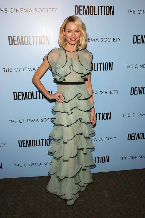 Who: Naomi Watts When: March 21, 2016 i Why: If a pistachio macaron ever took the form of a dress it would look like Naomi Watts' ruffled gown by Valentino. We can only dream of lounging at the Soho Ladurée in this exact outfit.