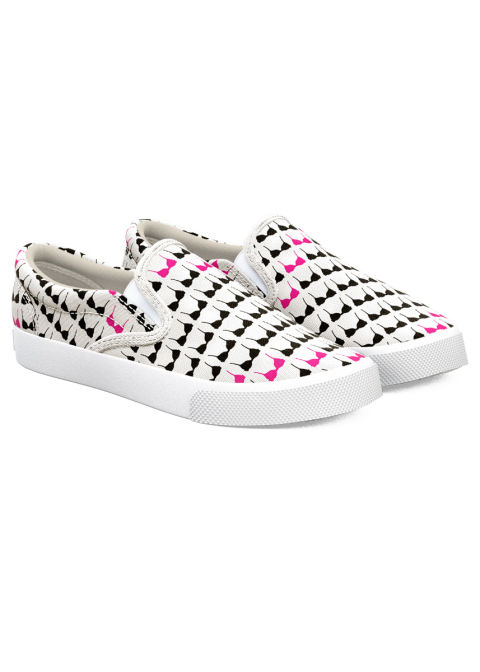 Bucketfeet teamed up with Bright Pink to make a bra-covered slip-on that sends $10 from every pair purchased to support the prevention and early detection of breast and ovarian cancers. Bucketfeet One in Eight Sneakers, $75; bucketfeet.com