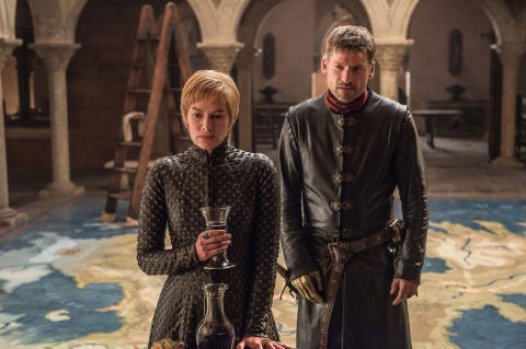 Cersei and Jaime Lannister on Game of Thrones