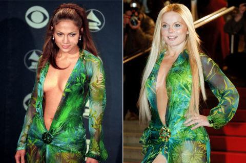 J Lo Grammys Green Versace Dress - Jennifer Lopez Fashion